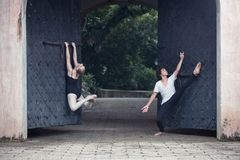 Ballet dancers in the outdoor Stock Photos