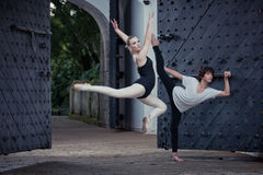 Ballet dancers in the outdoor Royalty Free Stock Photos