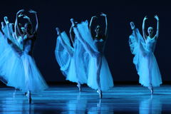 Ballet dancers. In performance on stage Royalty Free Stock Photo