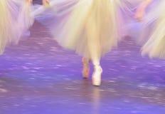 Ballet dancers on stage. Shot of ballet dancers on stage, soft focus Royalty Free Stock Image