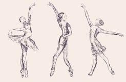 Ballet dancers. Vector hand drawn ballet dancers Royalty Free Stock Photos