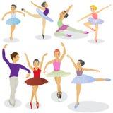 Ballet dancers. Vector illustration of ballet dancers in different positions Stock Photography