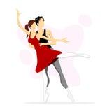 Ballet Dancing Couple Stock Photo