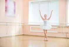 Ballet dancing student at a class Royalty Free Stock Photos