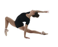 ballet De bevallige danser stelt tijdens repetitie Royalty-vrije Stock Foto's