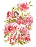 Ballet de danse de fille, future danseuse professionnelle de ballerine illustration stock
