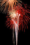 Ballet de feux d'artifice Photo stock