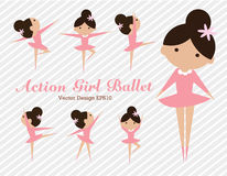 Ballet de fille d'action Image stock