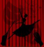Ballet de la sombra ilustración del vector
