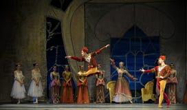 Ballet de lac swan exécuté par le ballet royal russe Photographie stock libre de droits