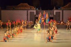 Ballet de Ramayana en Prambanan, Indonesia Imagen de archivo libre de regalías