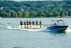 Ballet de ski d'eau Photo libre de droits