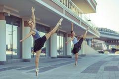 Ballet in de stad Stock Foto