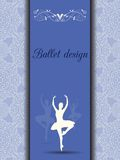 Ballet design card Stock Image
