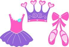 Ballet Design Elements. Ballet illustration design elements on white background Royalty Free Stock Images