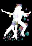 Ballet en el hielo Fotografía de archivo libre de regalías