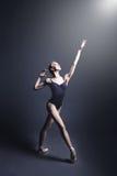 Ballet en la oscuridad Imagenes de archivo