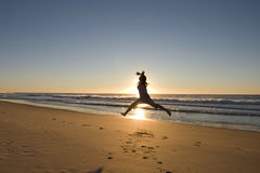 Ballet en la playa Fotos de archivo libres de regalías