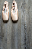 Ballet equipment. On wooden floor Stock Images