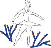Ballet et ballerine illustration stock
