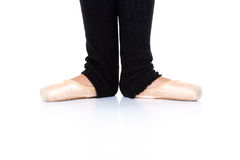 Ballet feet position - en pointe Royalty Free Stock Images