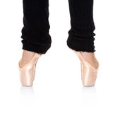 Ballet feet position - en pointe Stock Photo