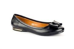 Ballet flats. Female ballet flats leather handmade royalty free stock image