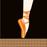 Ballet foot Royalty Free Stock Photos