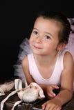 Ballet girl. Cute brunette girl wearing a ballet costume Royalty Free Stock Photos