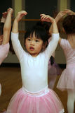 Ballet Girl. Preschooler enjoying her ballet class royalty free stock photography
