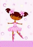 Ballet girl. Cute little dancing ballerina. Vector Illustration Royalty Free Stock Images