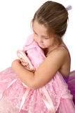 Ballet Girl. Young girl wearing a tutu dreaming of becoming a ballet dancer Stock Photography