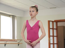 Ballet girl during ballet lesson Stock Image