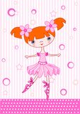 Ballet girl red Royalty Free Stock Photos