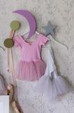 Ballet girl's dress hanging Royalty Free Stock Photos