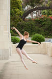 Ballet girl show power and balance. Royalty Free Stock Photos