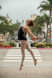 Ballet girl show power and balance. royalty free stock photo