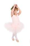 Ballet girl. Toddler ballet girl in pink against white background Stock Photos