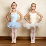 Ballet Girls. Young ballet dancers in a studio with wooden floors Stock Image