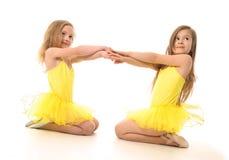 Ballet girls stock photo