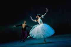 Ballet Giselle in Prague State Opera Stock Photos