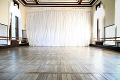 Ballet Hall with big mirrors Royalty Free Stock Photos
