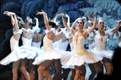 Ballet on ice Royalty Free Stock Photos