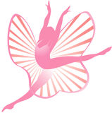 Ballet icon. Ballerina in action for logo or icon design element Stock Photography