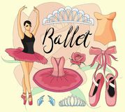 Ballet icon set Stock Photo