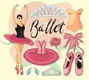 Ballet icon set Stock Photo