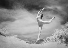 Ballet jump royalty free stock images