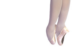Ballet legs isolated on white Royalty Free Stock Photos