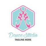 Ballet logo for ballet school. vector illustration Royalty Free Stock Photo