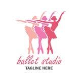 Ballet logo for ballet school. vector illustration Royalty Free Stock Images